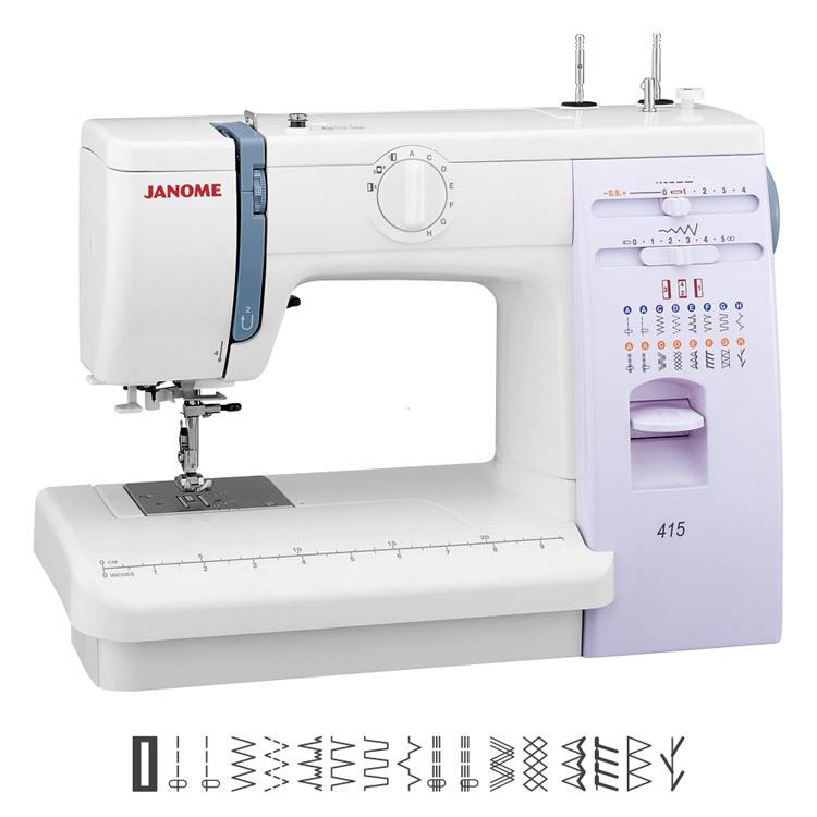 Multifunktionelle, mechanische Nähmaschine - JANOME 415