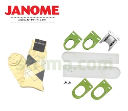Hoops set for embroidering on socks and gloves for Janome MB-4 - 770480006 JANOME