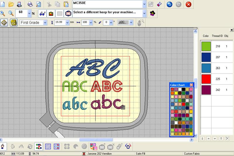 Embroidery Design Software Janome Digitizer Jr V45