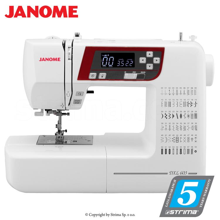 Multifunktionelle, computergesteuerte Nähmaschine - JANOME DXL603