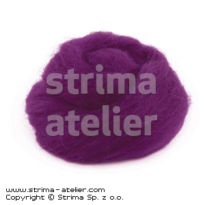 Worsted wool 28 microns - violet - 28M P-2709