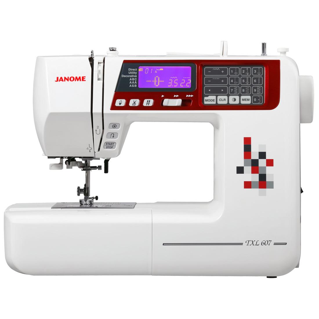 Multifunktionelle, computergesteuerte Nähmaschine - JANOME TXL607