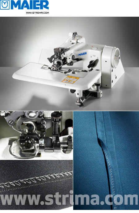 221-18/1 SERVO SET - MAIER blind stitch machine with energy-saving AC Servo TP550 motor - complete sewing machine