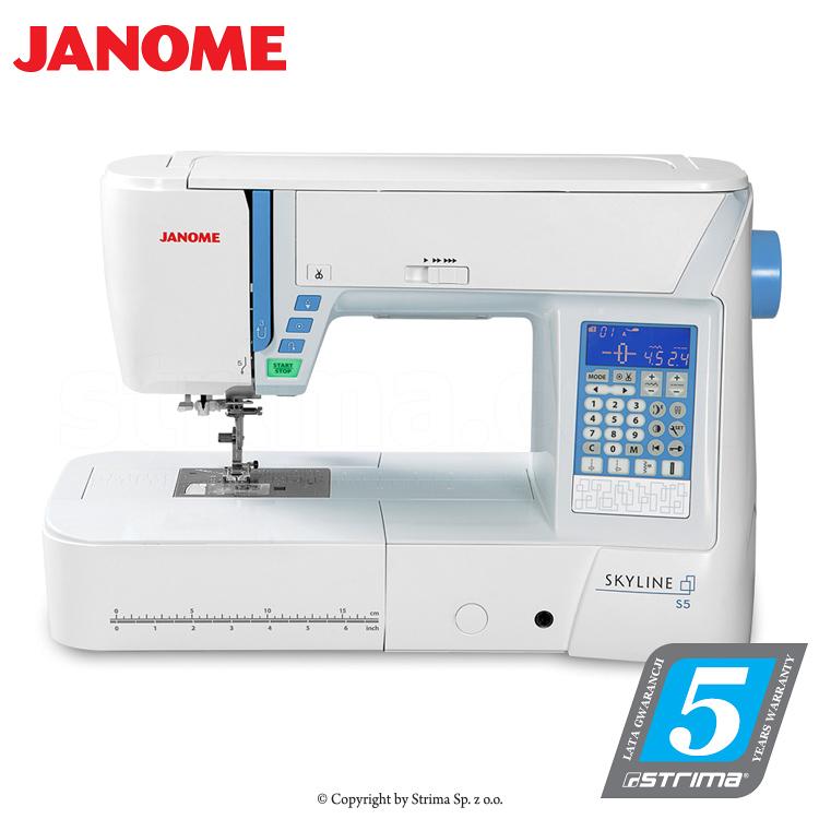 Multifunktionelle Nähmaschine, 496 Nähprogramme - JANOME SKYLINE S5
