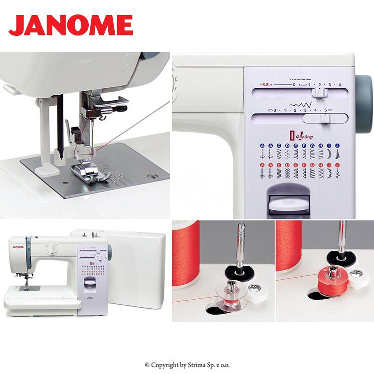 Multifunktionelle, mechanische Nähmaschine - JANOME 419S