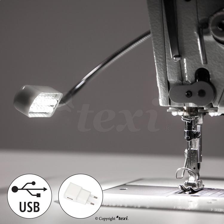 LED Lampe für Industrienähmaschinen 12 LED, 5 V, 0,6 W, USB - TEXI ...