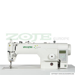 Automatic lockstitch machine for light and medium materials, with built-in AC Servo motor and control box, with closed lubrication circuit - machine head - ZOJE ZJ9000DA-D5