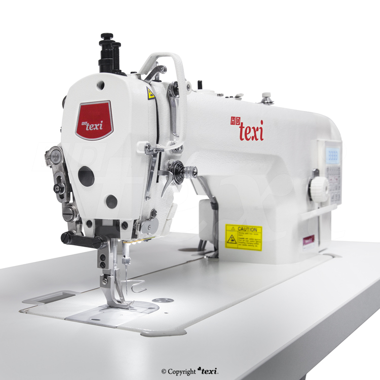 Upholstery and leather lockstitch machine with built-in Servo motor and control box (Mechatronic), bottom feed and walking foot, large hook - complete machine - TEXI WALKER WF AUT PREMIUM EX