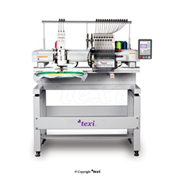 15-needle embroidery machine with base and head for sewing the ribbon