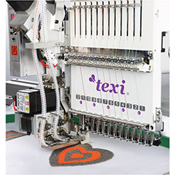Embroidery machine, single-head, 15-needle with accessories for sewing beads from the tape