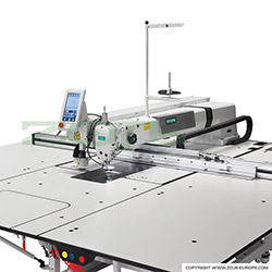 Pattern sewing machine for very big elements, with laser for cutting in every direction