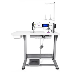 Automatic, mechatronic lockstitch machine with closed lubrication circuit and touch screen panel - complete machine - 2 years warranty